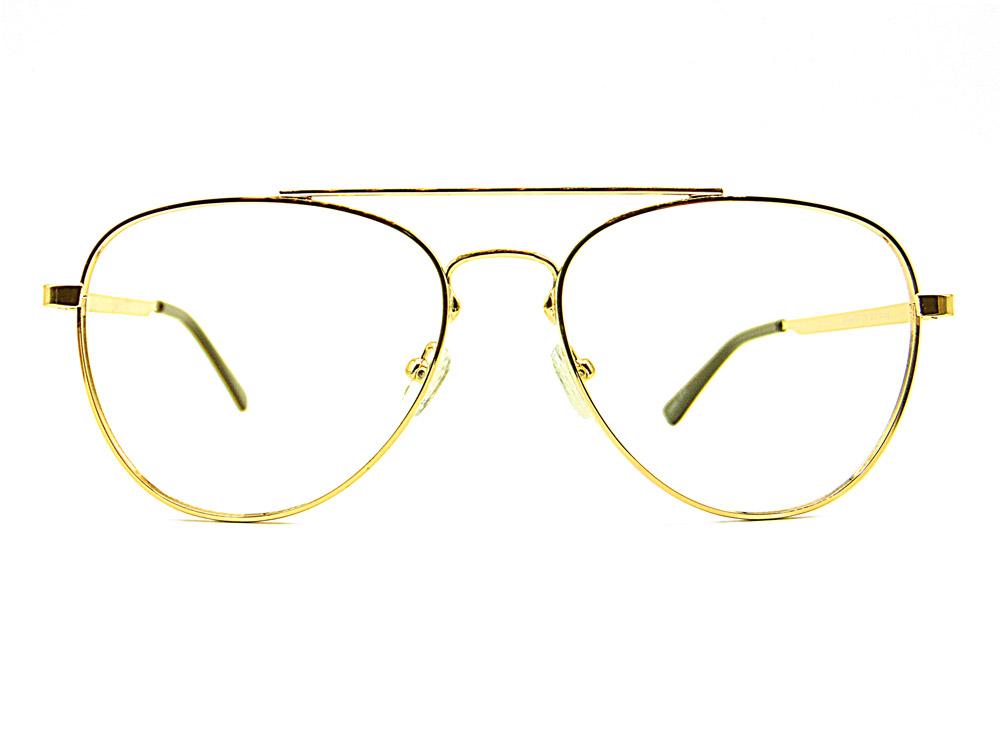 Gafas graduadas tipo aviador doradas Casey. Fabricadas en acero.